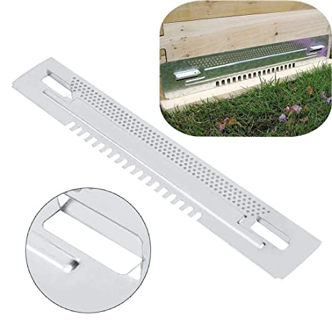 1x Zinc Plated Bee Hive Sliding Mouse Guards Travel Gates Beekeeping Equipment@.