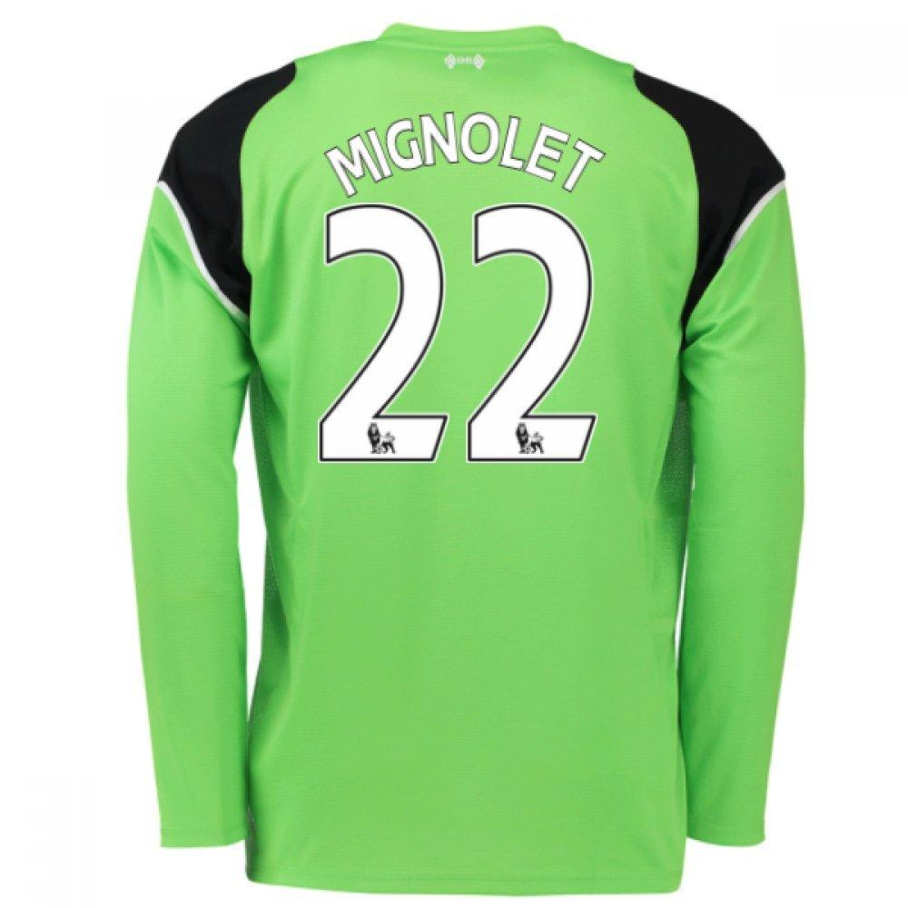 2016-17 Liverpool Home Goalkeeper Shirt (Mignolet 22) Kids B0785PQ44TGreen SB 26-27\
