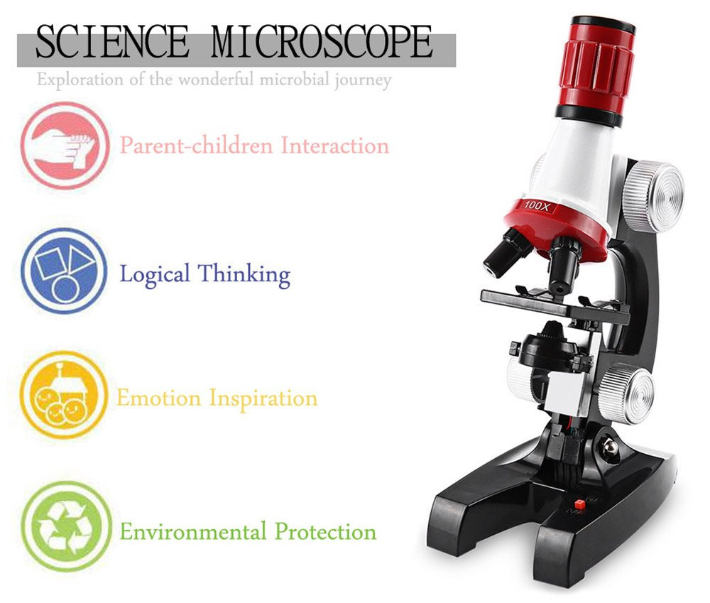 OneBelief Microscope Kit with LED for Kids Beginners, 100X, 400X, and 1200X Magnifications, Science Eductional Toys Gifts by OneBelief (Image #6)