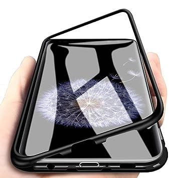 WindCase Galaxy S9 Plus Funda, Anti-rasguño Metal Aluminio Bumper con Magnética + Transparente