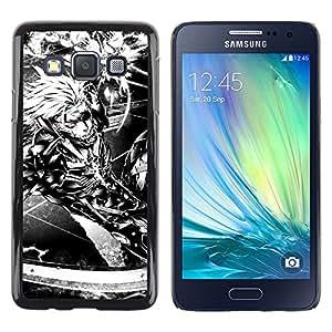 EJOY---Cubierta de la caja de protección la piel dura para el / Samsung Galaxy A3 / --Ciber Guerrero