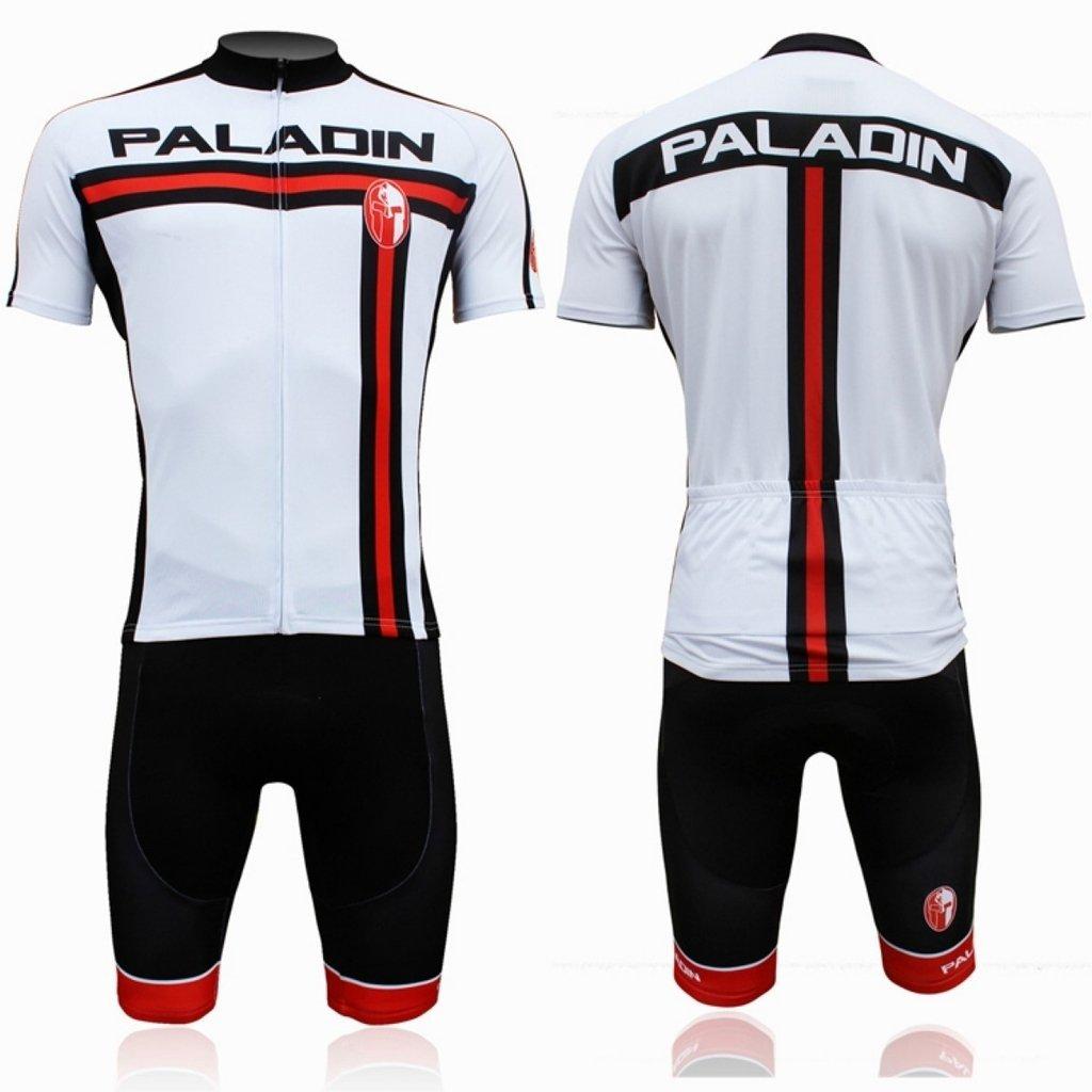 PaladinSportメンズホワイト半袖ポリエステルクイックドライバイク服 B014SG0CI6  004-Short sleeve Set Large=US Size Small