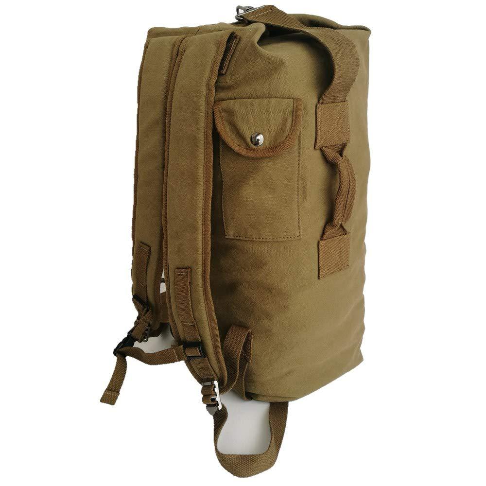 Amazon.com   Fonsmile Travel Backpack Duffle Backpack Canvas Hiking Backpack  Vintage Rucksack Large Capacity 35L ...   Sports   Outdoors 7a2e52565e9