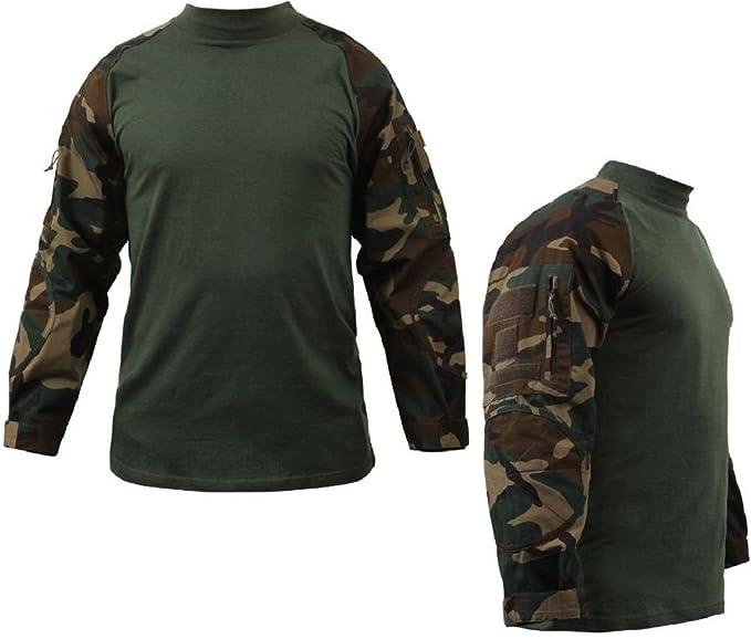 Amazon.com  Woodland Camouflage Military Heat Resist Lightweight Tactical  Combat Shirt  Clothing c4f4c1dd6b5
