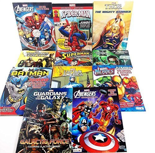 11 Pack DC & Marvel Farbeing & Activity Books Batman Spiderman - Assorted (Styles May Vary) by Bendon Publishing Intl B01A9PY0QU | Sale Online