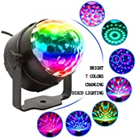 Party Lights with Remote Control Plug in Dj Lighting RBG Disco Ball Strobe Lamp 7 Modes Stage for Home Room Dance Parties Birthday Bar Karaoke Xmas Wedding Show Club Pub
