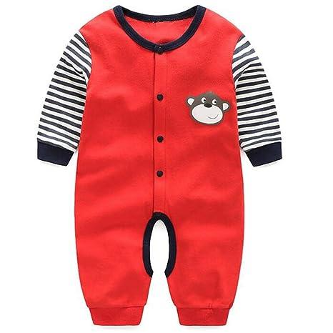 08f47bde5 Fairy Baby Long Sleeve Bodysuit Romper Snap-Up Footless Sleeper(Red ...