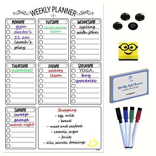 Magnetic Weekly Task Planner | A3 Dry