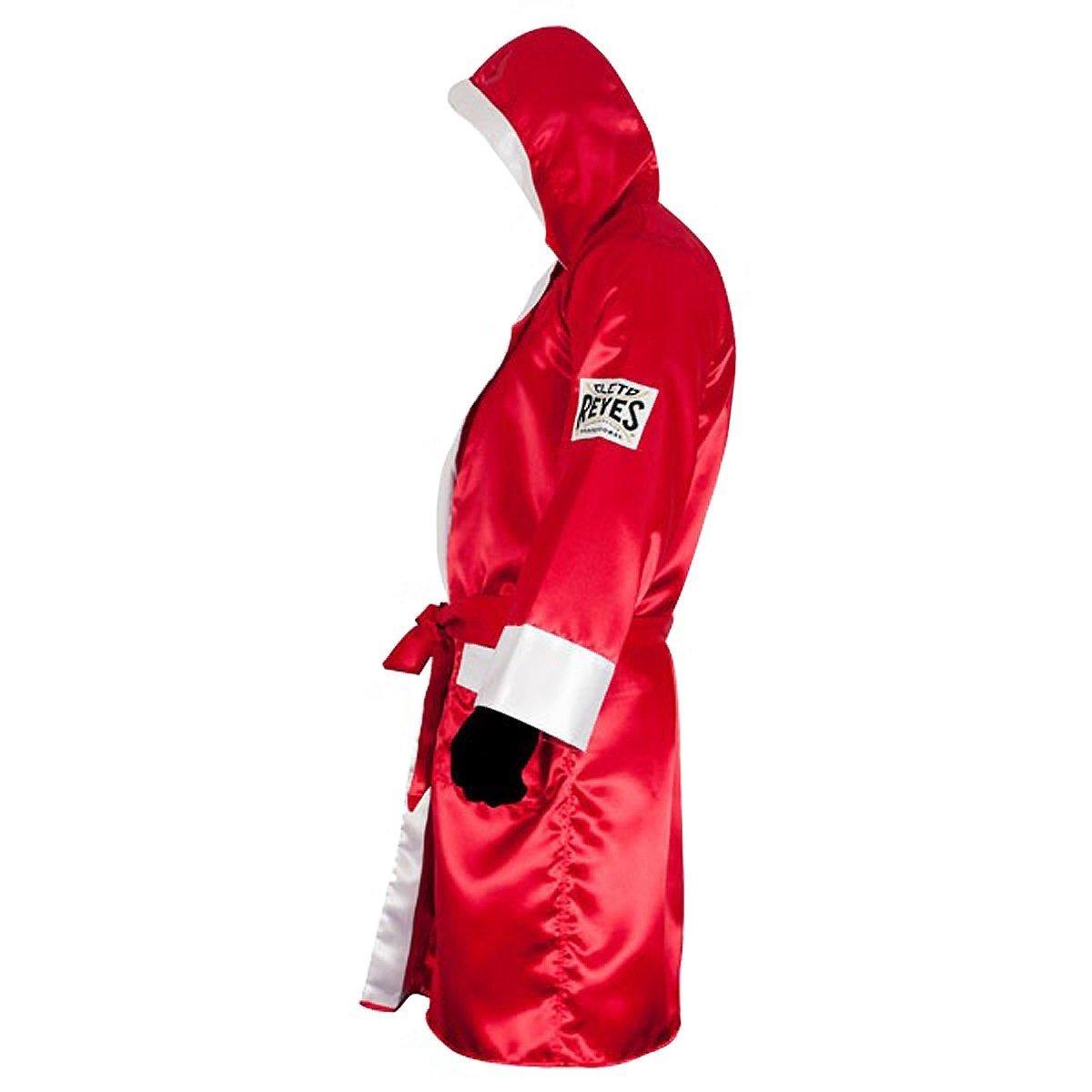 1054623cca Cleto Reyes Satin Boxing Robe with Hood - Black Gold  1541594622 ...