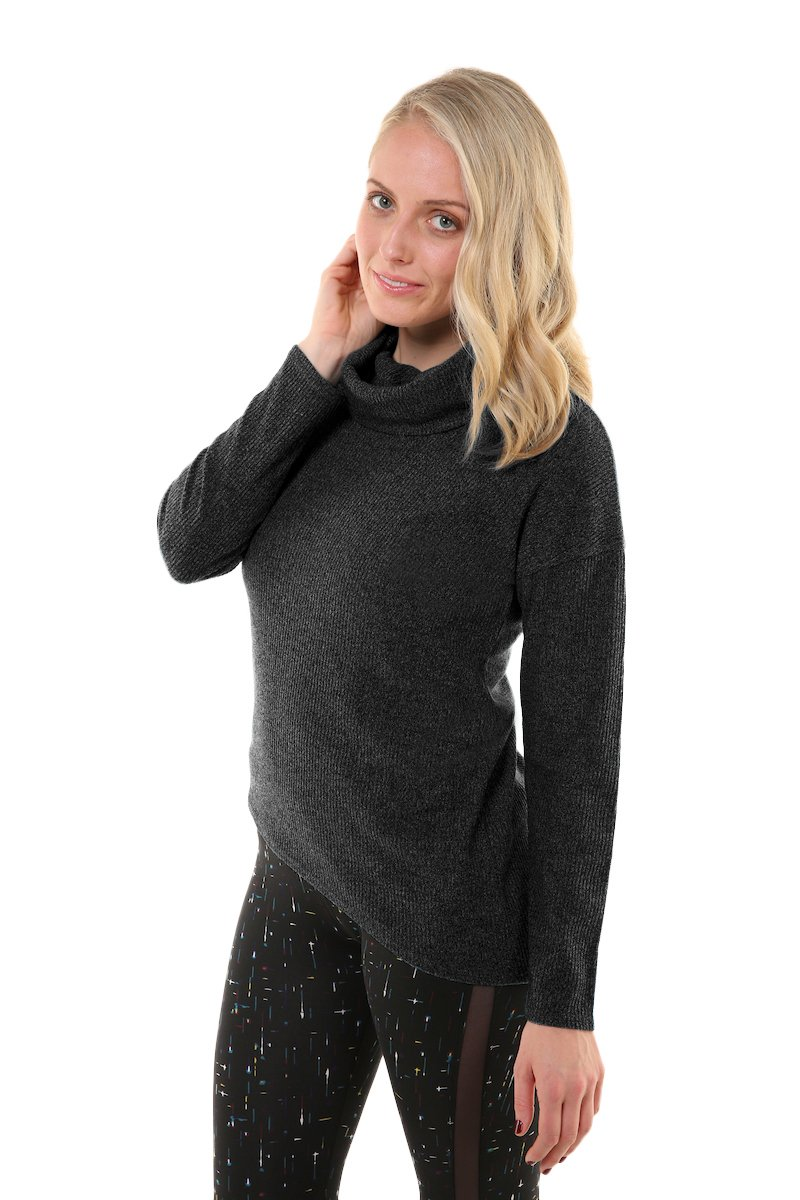 Soybu Womens Serene Sweater, Black, Small by Soybu