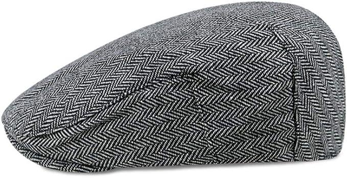 Roffatide Retro Sombrero de Boina Gorra Gatsby Plano Tapa Ajustable española para Hombre Gris: Amazon.es: Ropa y accesorios