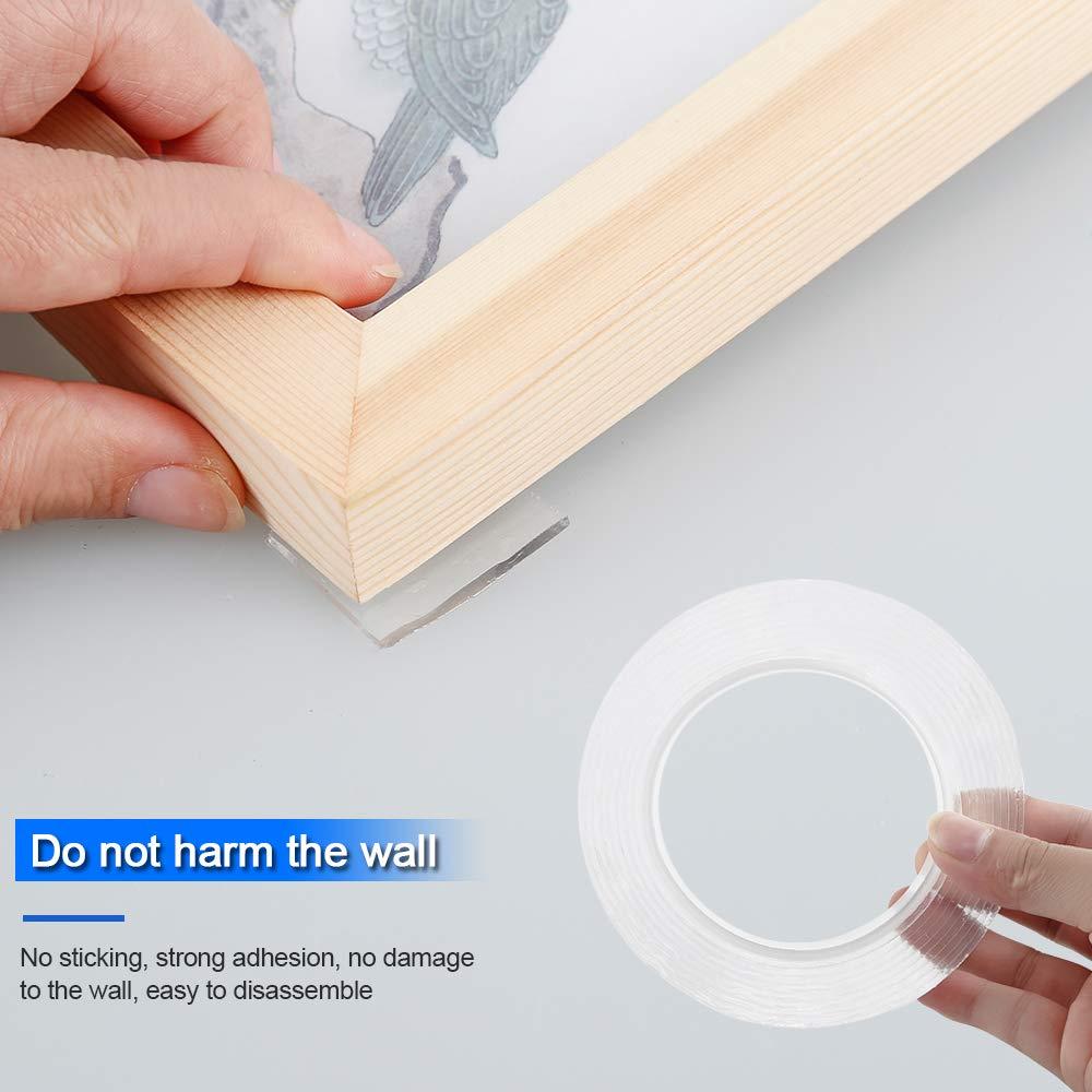 ZHOUXING Nastro adesivo biadesivo lavabile pad in gel riutilizzabili multifunzione nastro antiscivolo Traceless per moquette per telefoni cellulari