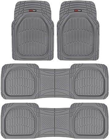 Car SUV VAN seat Covers w// Gray Rubber Floor Mats Gray