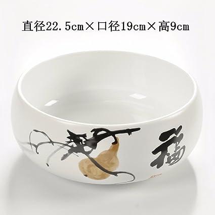 BBSLT Accesorios de té de cerámica, ceniceros, mesa de centro grande cáscaras de melón
