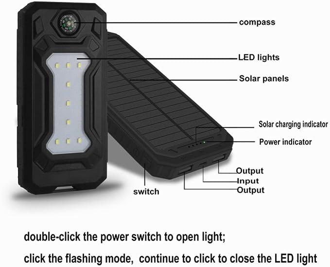 Hunpta DIY étanche 300000 mAh Power Bank 2 USB chargeur