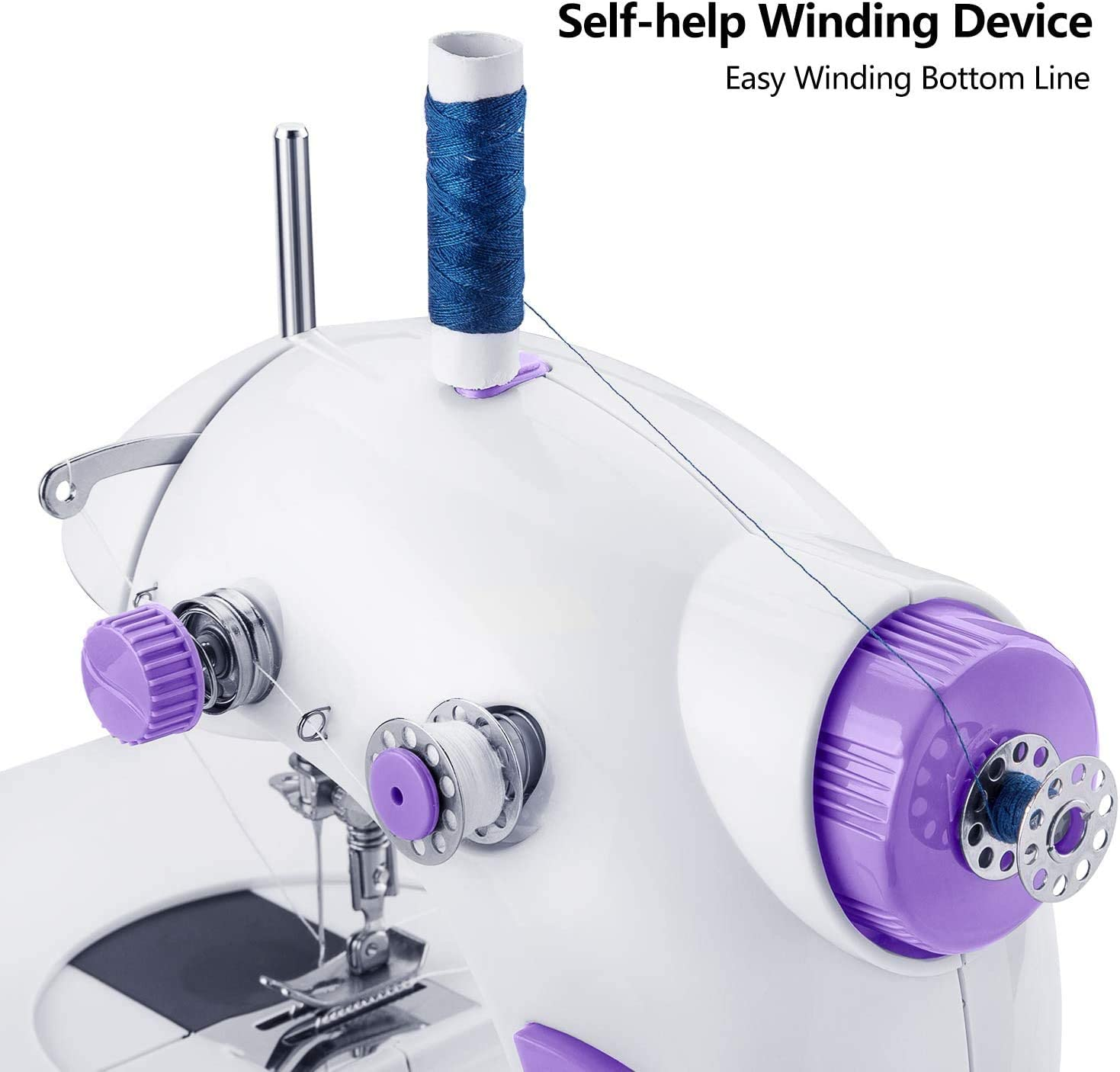 Mini máquina de coser, máquina de coser eléctrica portátil con ...