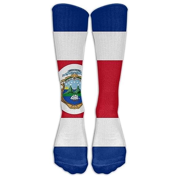 Costa Rica Flag Polyester Flag Winter Compression Socks For Men & Women - BEST For Running