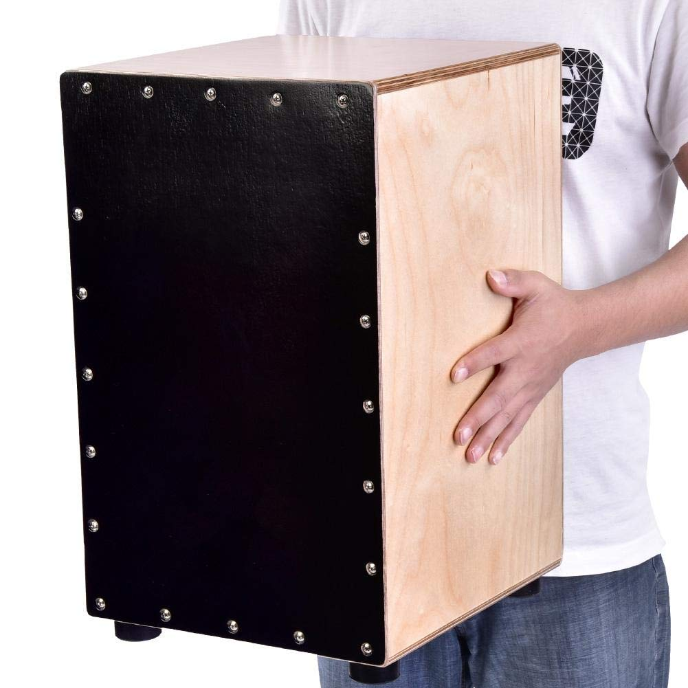 Box Drum, Portable Traveling Mini Wooden Percussion Meinl Cajon Box Flat Hand Drum Accompanying Musical Instrument with Rubber Feet