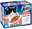 Felix Pouch Supermeat Fish and Meat Selection 12 x 100 g (Pack of 4)