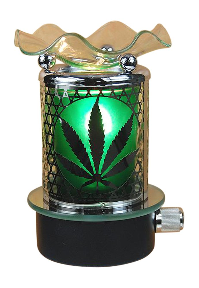 Marijuanaポットリーフプラグin Oil Warmer Burner Night Light B075FFH6MB 19245