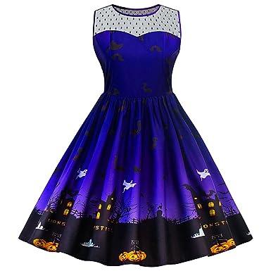 3140d72c2a DressLily Women s Halloween Witch Bat Pumpkin Costume Lace Panel Plus Size  Dress
