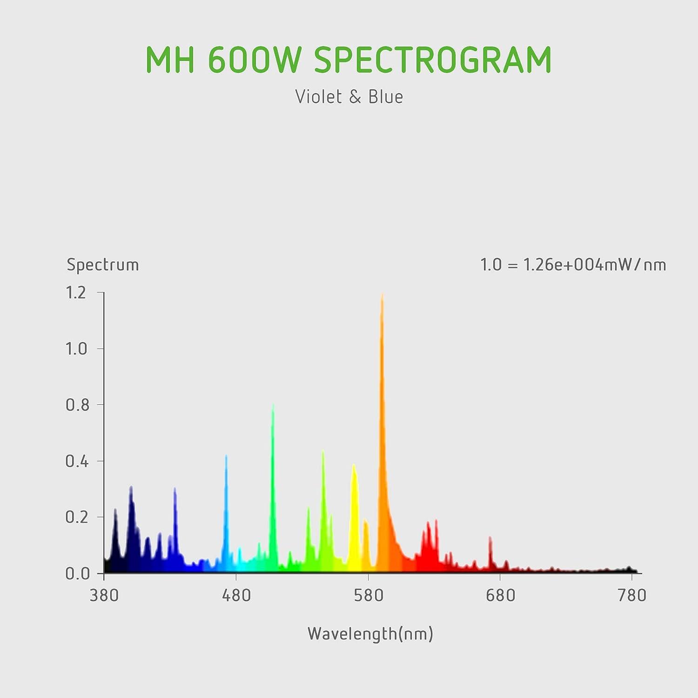 VIVOSUN 400 Watt Vegetative Metal Halide MH Grow Light Bulb Lamp Enhanced Blue and Violet Spectrums CCT 4200K 36,000 Lumens