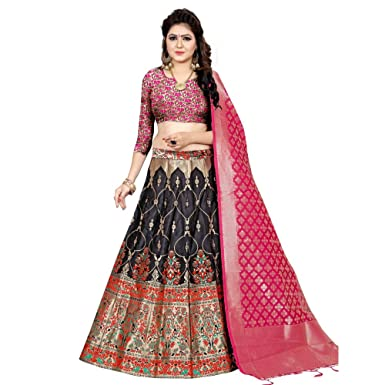11d981e2c6 Amazon.com: designer banarasi brocade lehenga choli dream exporter 1138:  Clothing