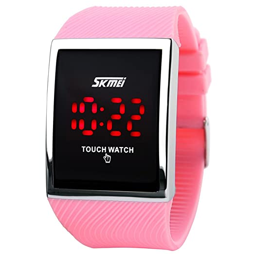 Skmei de pantalla táctil LED digital impermeable niños niñas Sport Casual Relojes de pulsera.: Amazon.es: Relojes