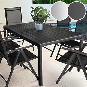 Amazonde Miadomodo Gartentisch 150 X 90 Cm Aus Aluminium Und