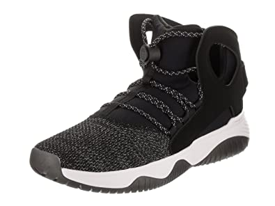 competitive price 32b79 447bf Nike Men s Air Flight Huarache Ultra Black Black White Volt Basketball Shoe  8