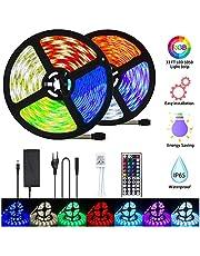 LETION LED Ruban,Ruban LED 10 m,300LEDs 5050 RGB SMD avec télécommande infrarouge 44 touches,12V 33FT Lumière d'Ambiance Décoration pour Exterieur,Chambre,Carnaval,Projecteurs[Classe énergétique A+++]