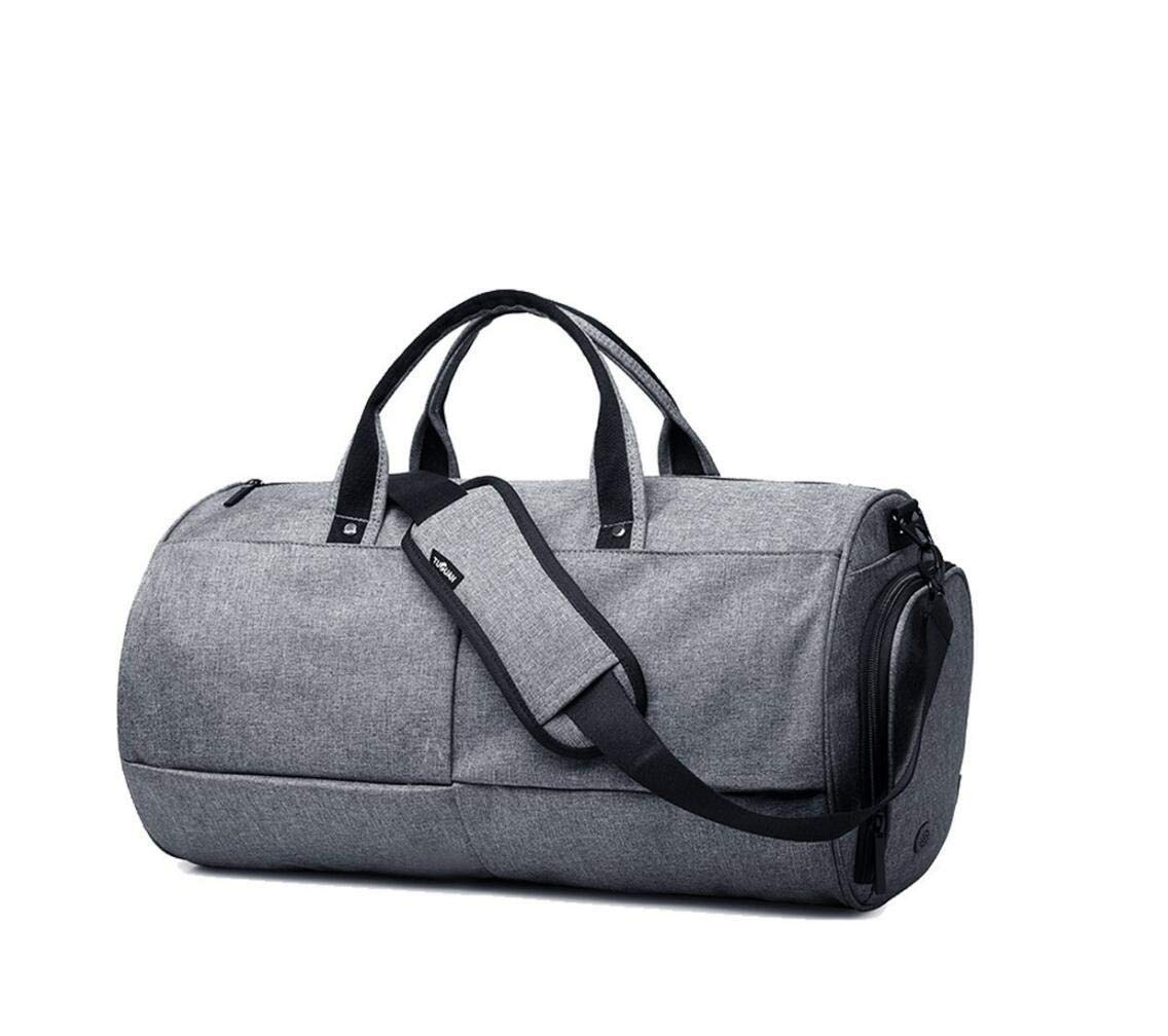 Gym Duffel Bags, 22L Canvas Travel Luggage Bag, Waterproof Gym Bag with Shoes Compartment for Father Day Grey