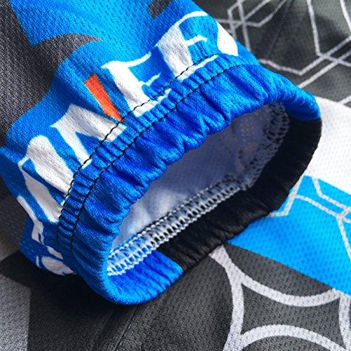sponeed Mens Bike Jersey Pants Padded Cycle Wear Road Moutain Biking Gear Cycling Apparel US M Multi Blue
