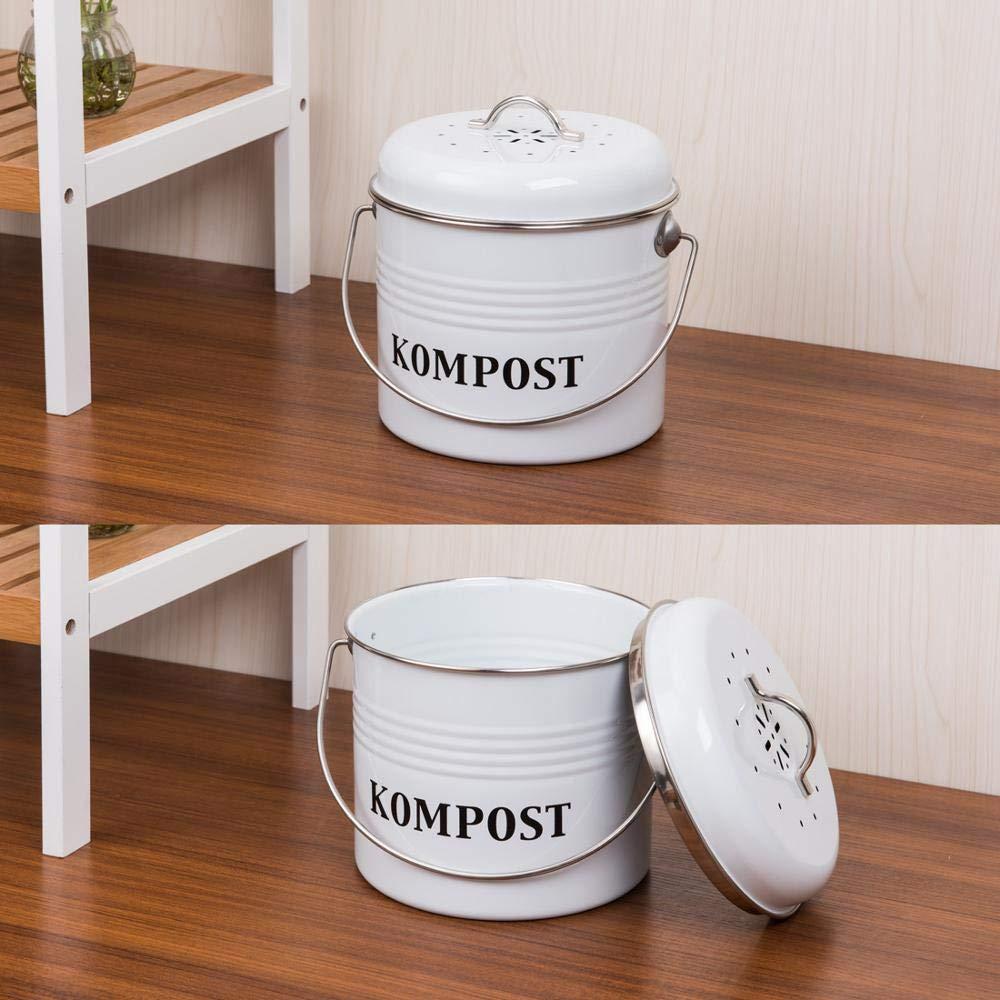 NBLYW Contenedor de Compost de Cocina de 5 litros con Tapa ...