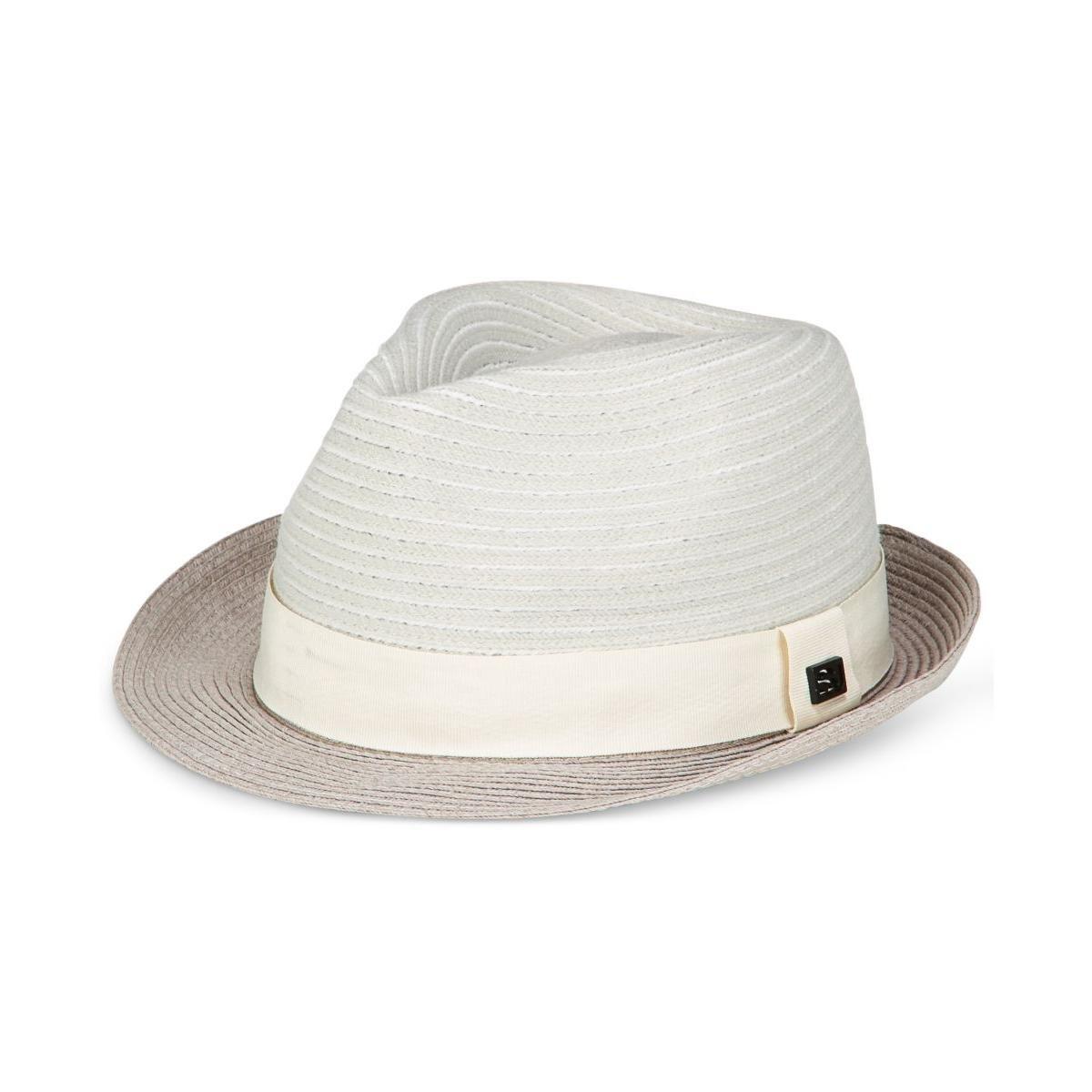 Sean John Mens Braided Stripe Straw Fed White ML ABSJ2779MC