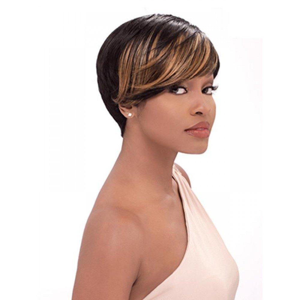 Amazon Sensationnel Bump Human Hair Wig Fab Fringe Champagne