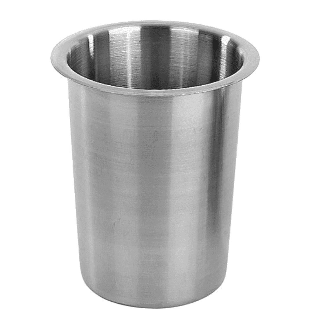 """Browne 3-3/4"""" Stainless Steel Solid Cutlery Cylinder"""