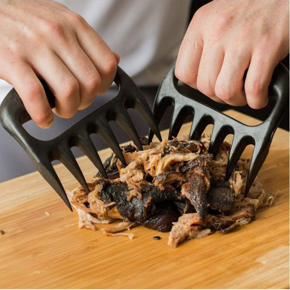 opaten Bear Claws Meat Shredder for BBQ - Perfectly Shredded Meat, BBQ Forks for Shredding Handling & Carving Food from Grill Smoker or Crock Pot - Metal Barbecue Slow Cooker Handler Accessories