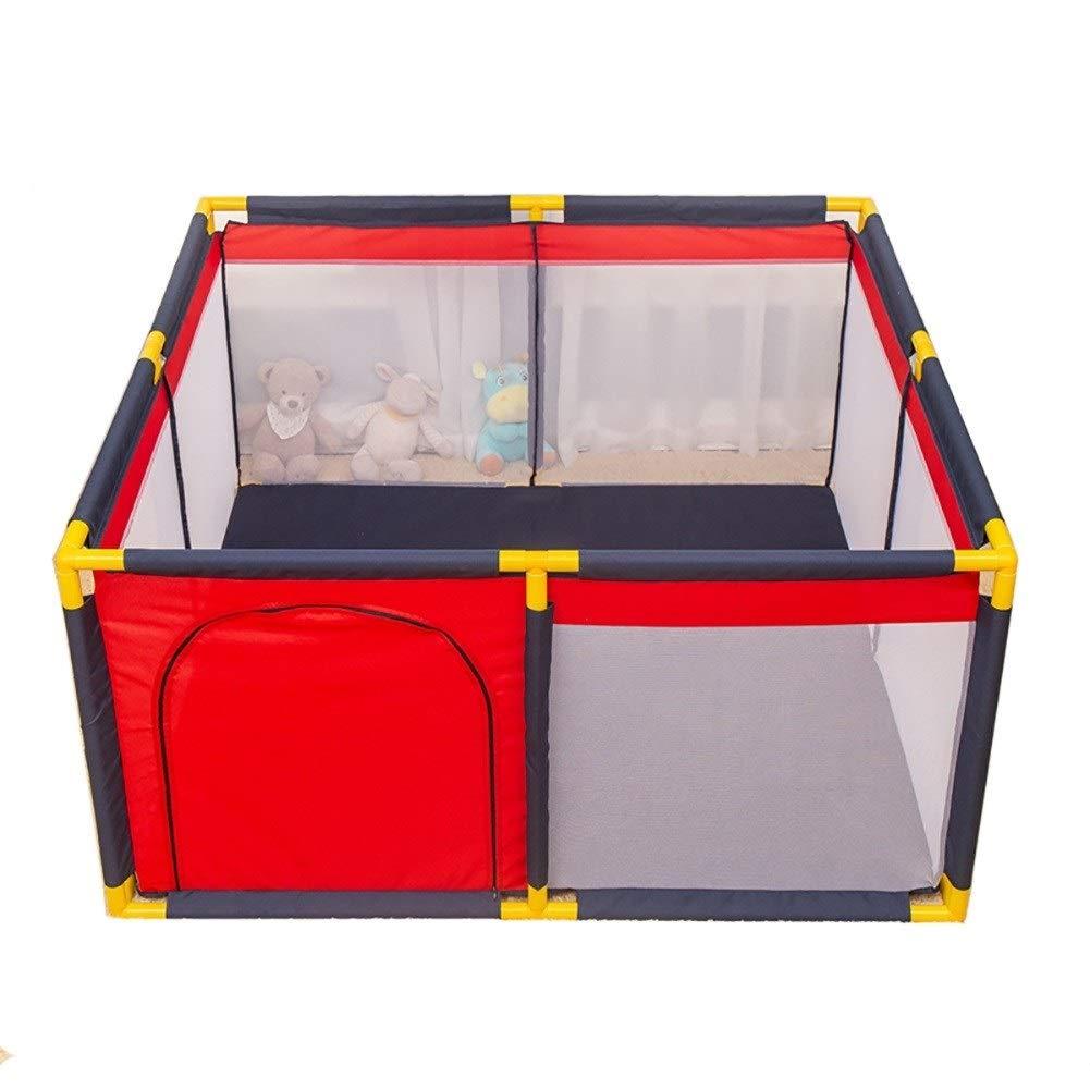 -ベビーサークル Red Playpens - 赤ん坊の塀の世帯の粉砕抵抗力があるボールプール、子供の安全選手 (Size : M) Medium  B07SSBYW32