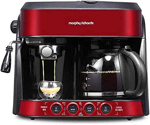 Cafetera, cafetera semiautomática estadounidense 2 en 1 La cocina ...