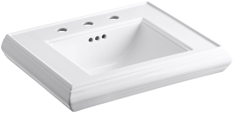KOHLER K-2239-8-0 Memoirs Pedestal Bathroom Sink Basin with 8 ...