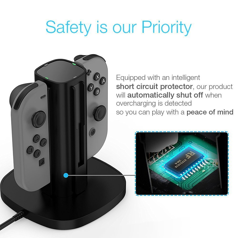 Centeni Joy Con Fast Charging Dock Station For Nintendo Fastchargerwithcutoffcircuitpng Switch Electronics