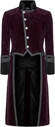 Veste homme noire style militaire avec broderies gothique