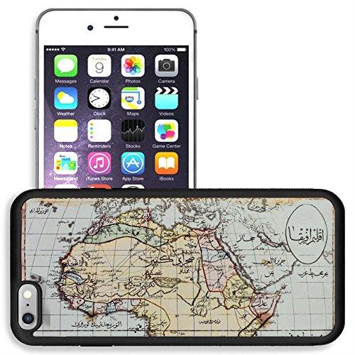 Historical Reproductions Map (Liili Apple iPhone 6 plus iPhone 6S plus Aluminum Backplate Bumper Snap iphone6plus/6splus Case Image ID 1803 Photo from old reproduction Image ID 23322862 Historical map of Africa in Arabic script Pu)