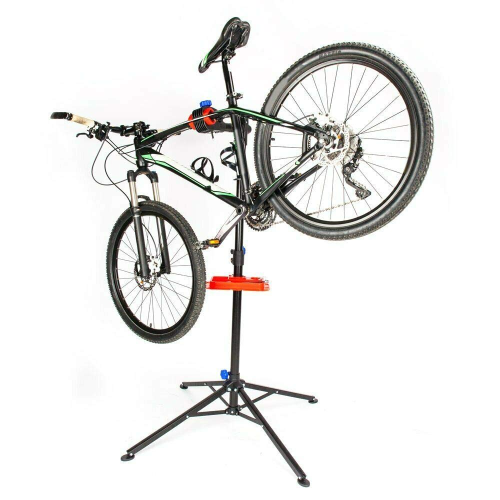 TNPSHOP Bicycle Bike Repair WorkStand Cycle Rack Adjustable Holder Portable Tool Tray