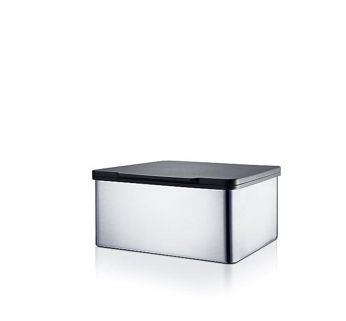 Blomus Menoto Caja para Toallitas Húmedas, Caja para Paños Húmedos, Acero Inoxidable Mate, 7.5x15x13cm, 68821: Amazon.es: Salud y cuidado personal