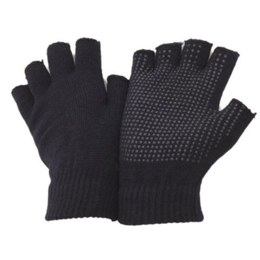 2Paar Erwachsene praktisch Fingerlose oder Full Finger Magic Gummi Greifer fahren Handschuhe von Undercover Black Fingerless AT-18b