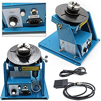 Image of Arc Welding Equipment Turntable,TBVECHI,Rotary Welding Positioner Turntable Table 370 270 215mm,BY series Light Positioner