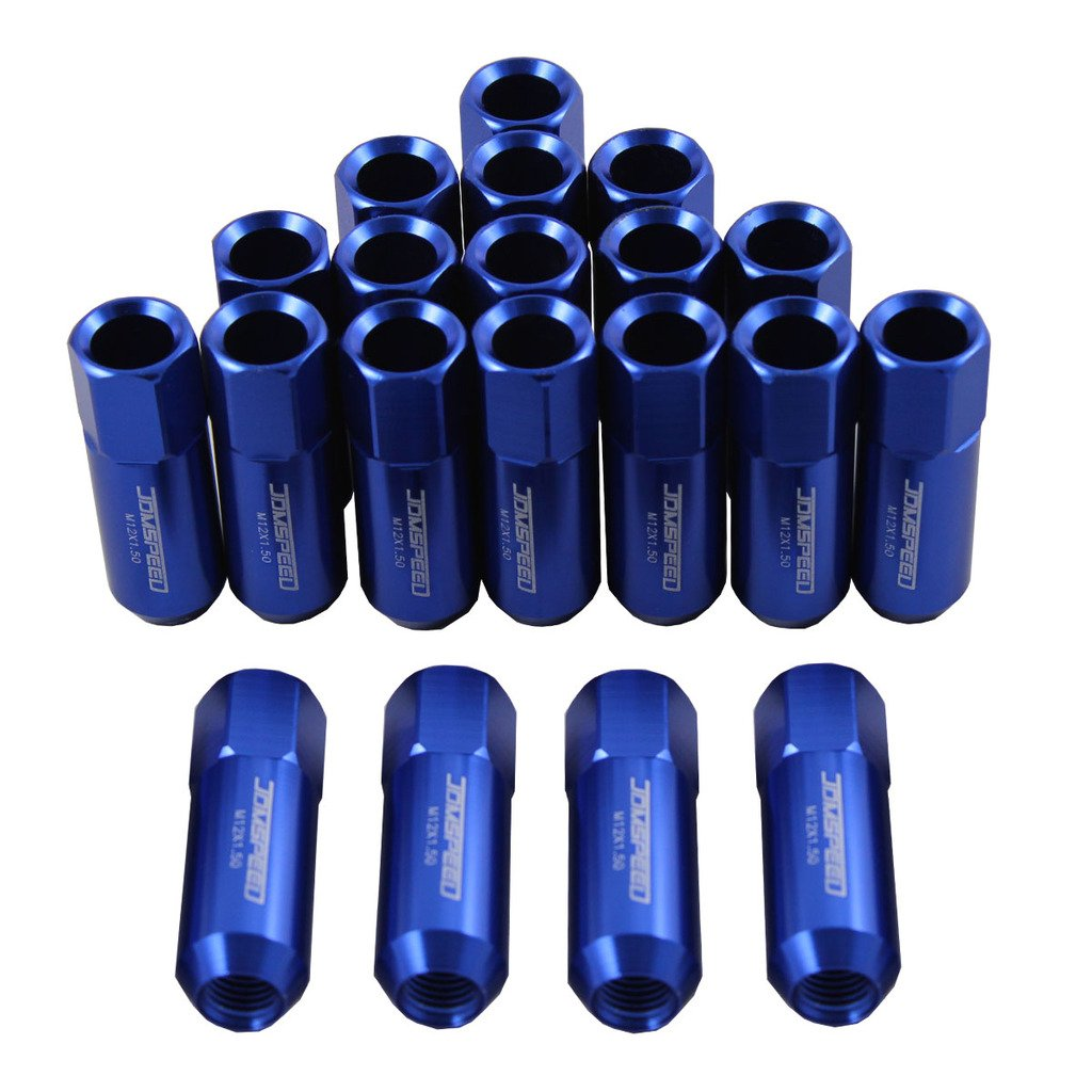 Generic JDMSPEED Blue 60MM Aluminum Extended Tuner Lug Nuts For Wheel Rims M12X1.5 20PCS by JDMSPEED