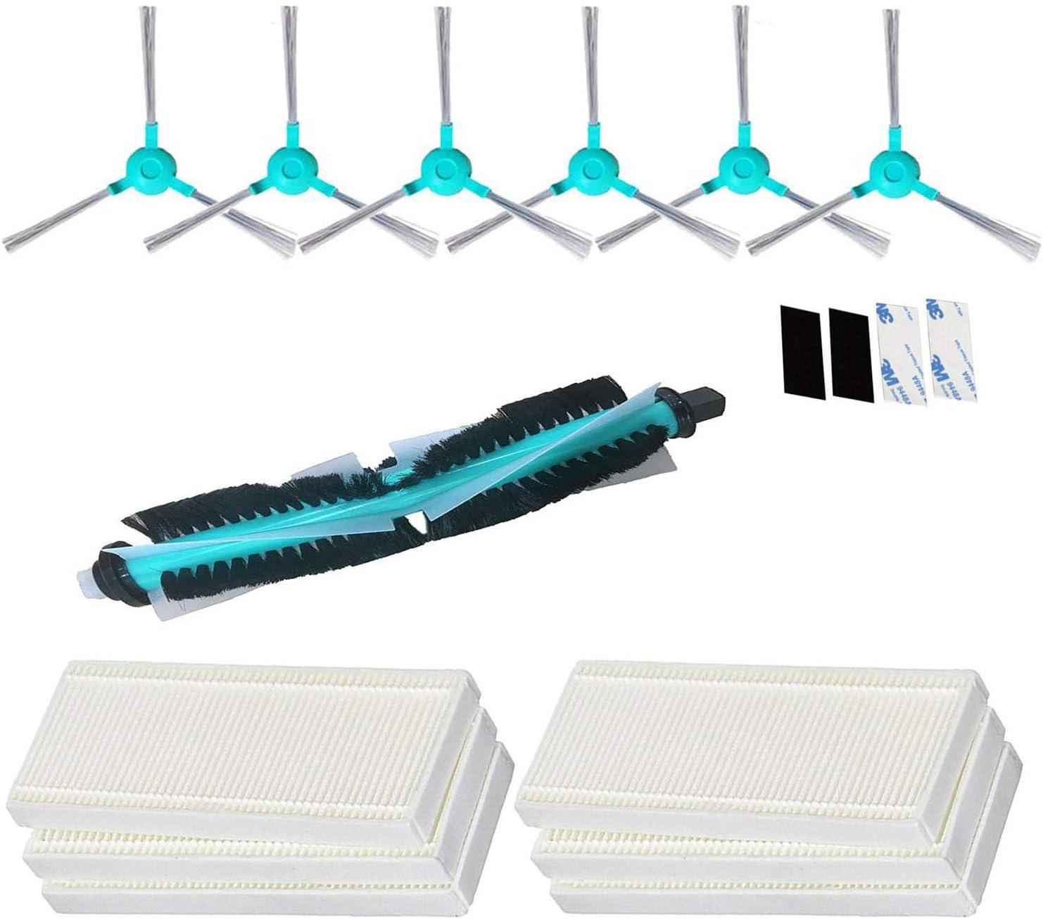 Simuke 1 cepillo principal, 6 HEPA filtro, 6 cepillo lateral, para ...